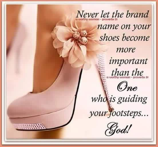 The name on your shoes.