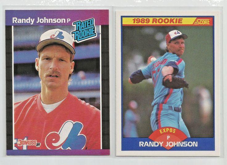 1989 rookie lot 2 cards of randy johnson donruss score