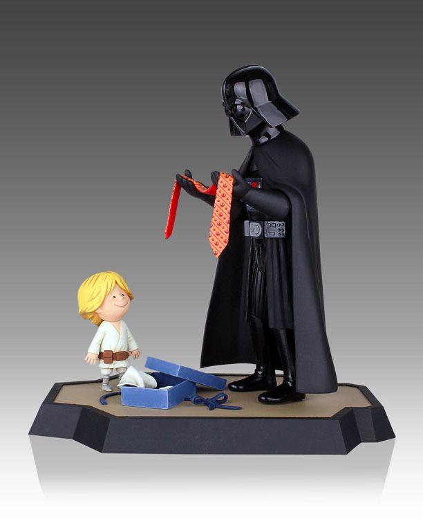 Figura Darth Vader y Luke Skywalker