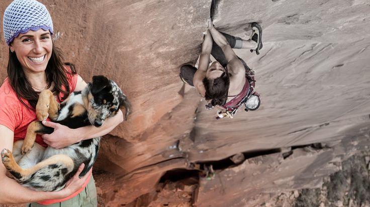 Стэф Дэвис: отпустить! Иногда единственный способ пролезть участок голой скалы — это прыгнуть. Кто-то лезет динамично, кто-то все делает в статике.