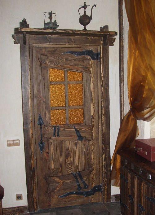 Межкомнатные состаренные двери Охотник