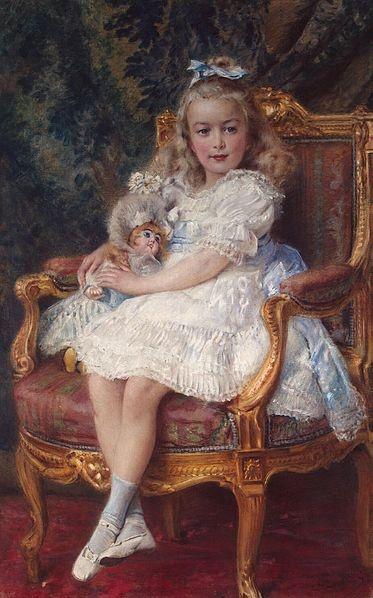 Portrait of Tsar Nicholas II's third daughter Grand Duchess Marie Nikolaievna