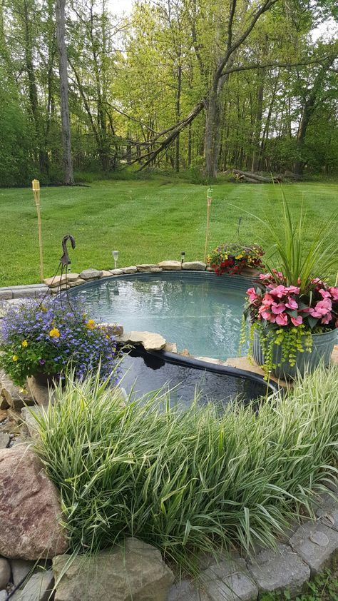 Perfect This is our rd year with a stock tank pool Low cost and easy maintenance