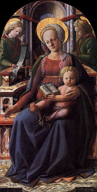 Fra Filippo Lippi - Madonna and Child Enthroned with Two Angels - WGA13175.jpg