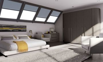 Opengrain Dark Grey Bella Bedroom Doors - By BA Components
