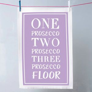 Funny Prosecco Tea Towel - our favourite last minute gifts