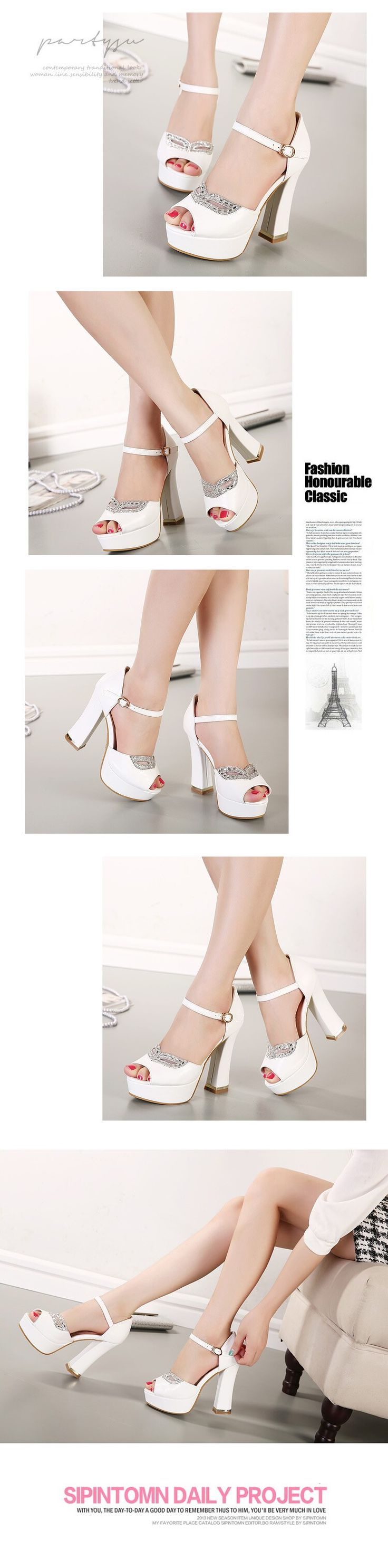 Free shipping, $32.22/Pair:buy wholesale rhinestone fox mask bridal heels white heel ivory shoes comfortable thick heel platform wedding shoes 12CM size 35 to 39 from DHgate.com,get worldwide delivery and buyer protection service.
