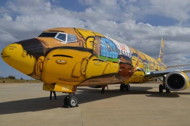 Pesawat Khusus Timnas Brasil untuk Piala Dunia 2014