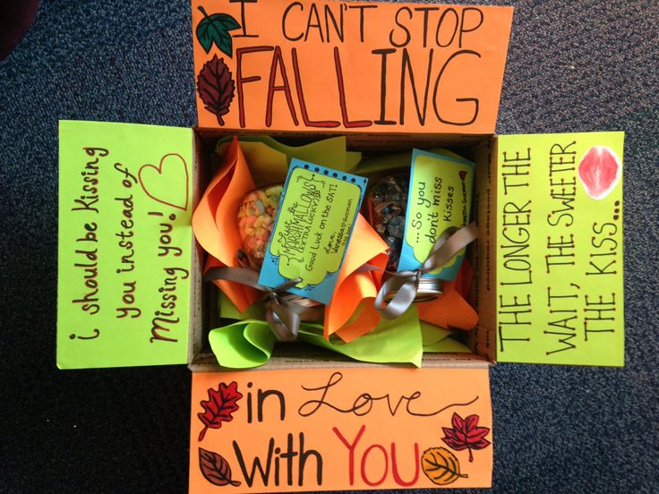 Fall inspired care package for when you're missing your boyfriend in college