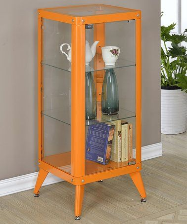 Look at this #zulilyfind! Orange Window Cabinet Display Case #zulilyfinds