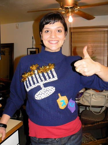 Ugly Hanukkah Sweater - OCCASIONS AND HOLIDAYS Chanukah / Hanukkah on Craftster.org
