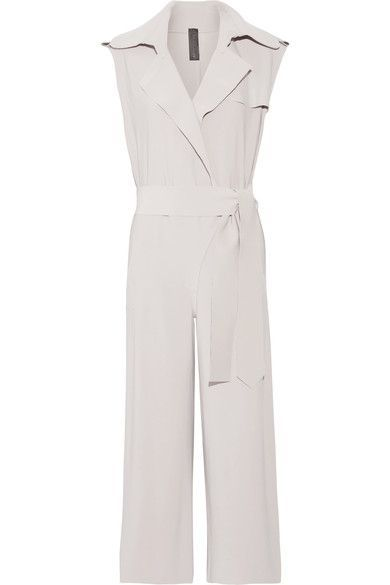 Norma Kamali - Wrap-effect Stretch-jersey Jumpsuit - Taupe - x large