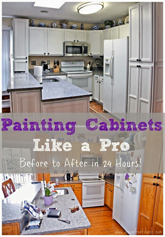 Painting Kitchen Cabinets in One Day