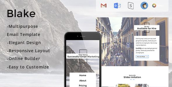 Blake - Responsive Email Template + Stampready Builder