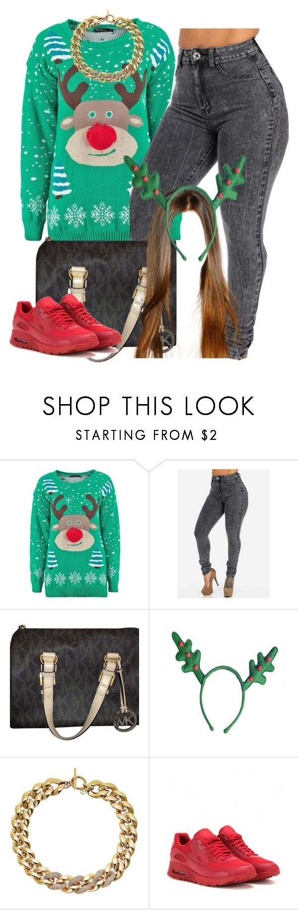 """11 days till Xmas countdown"" by trillest-queen ❤ liked on Polyvore featuring Michael Kors and NIKE"