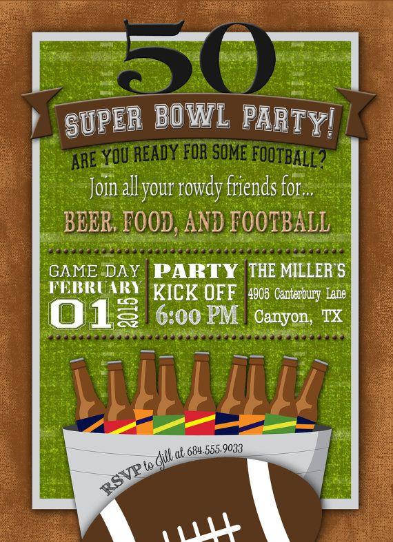 super bowl party flyer templates