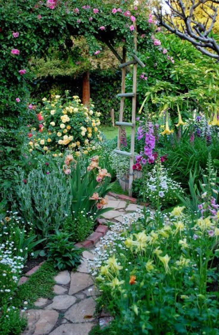 200 Garden Path Archives Page 15 Of 21 Any Garden Landscape In 2020 With Images Small Cottage Garden Ideas Cottage Garden Beautiful Gardens