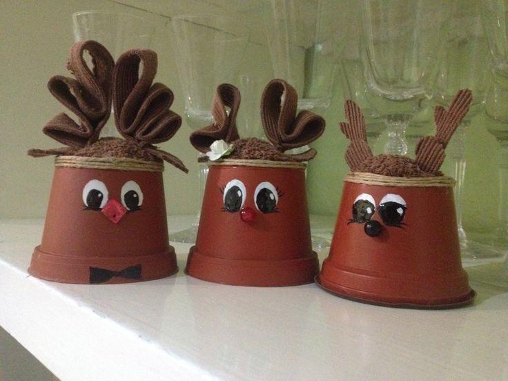 adornos navide os caseros renos caseros pinterest