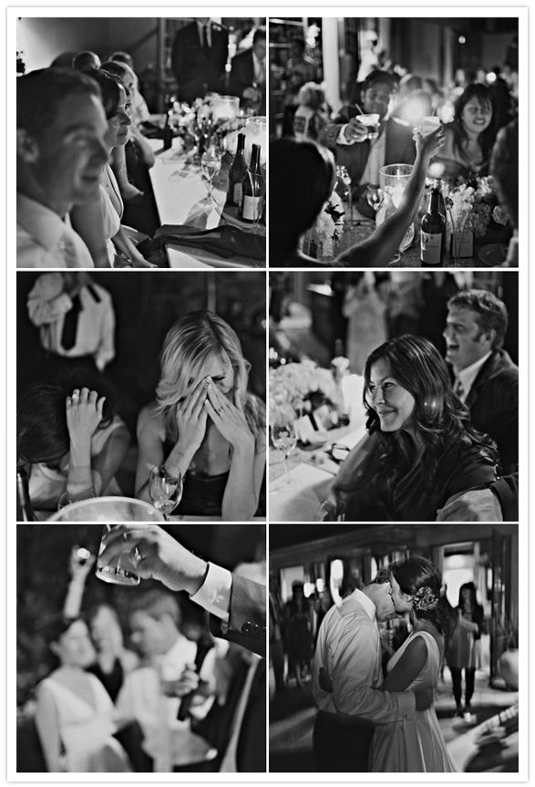 I like the idea of getting some Shots of our loved ones as the toasts are being given
