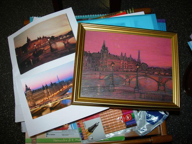 """""""Paris en rose"""" di Cristina Contilli... dalle foto al quadro..."""