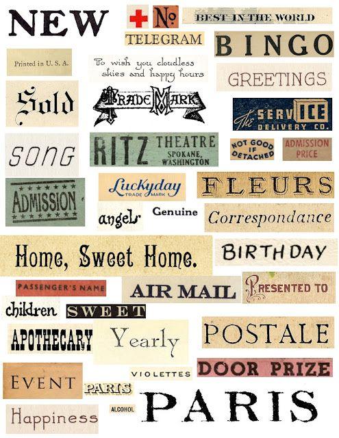 Free printable words #art #journal