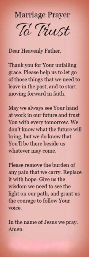 Marriage Prayer / Trust