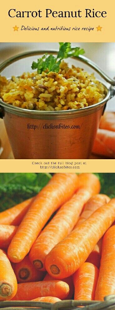Carrot Peanut Rice - healthy and delicious recipe. #southindian #carrots #peanut #carrot #rice #yummy #tasty #foodporn #foodgasm #healthy #indianfood