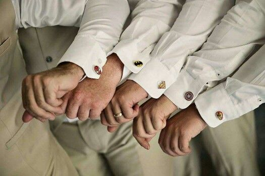 What is a Superhero at Spiderman's  wedding without his cufflinks!