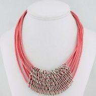 Necklace Metal Cotton