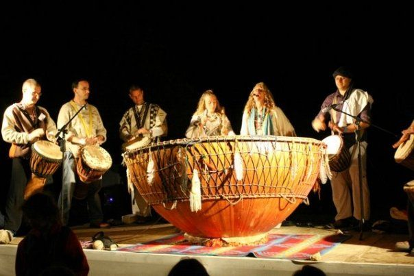 White Eagle and Grandmother Drum at Janana Festival, Israel