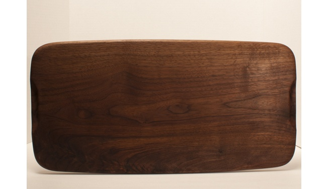 Table Board - Walnut from OfMaineWood. Hand finished serving board good for bread or other wonderful treats. Solar kiln dried local wood to Maine.