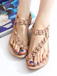 Thong sandals flip flat shoes flat heels shoes. Gotta paint the toes first (: