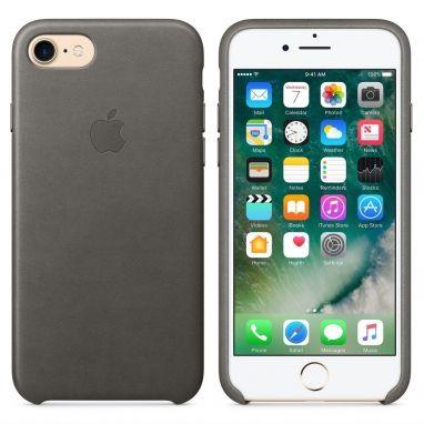 Apple iPhone 7 leren hoesje stormgrijs  SHOP ONLINE: http://www.purelifestyle.be/shop/view/technology/iphone-beschermhoezen/apple-iphone-7-stormgrijs-leren-hoesje