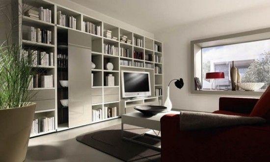 Futuristic Living Room Wall Combination TV Unit Design Ideas From Huelsta