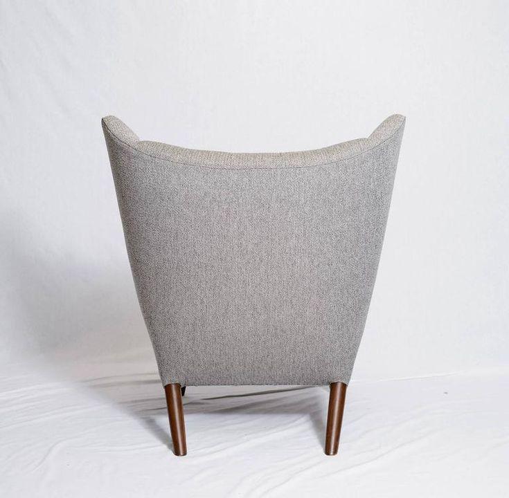 "Hans Wegner ""Papa Bear"" Chair and Footstool 7"