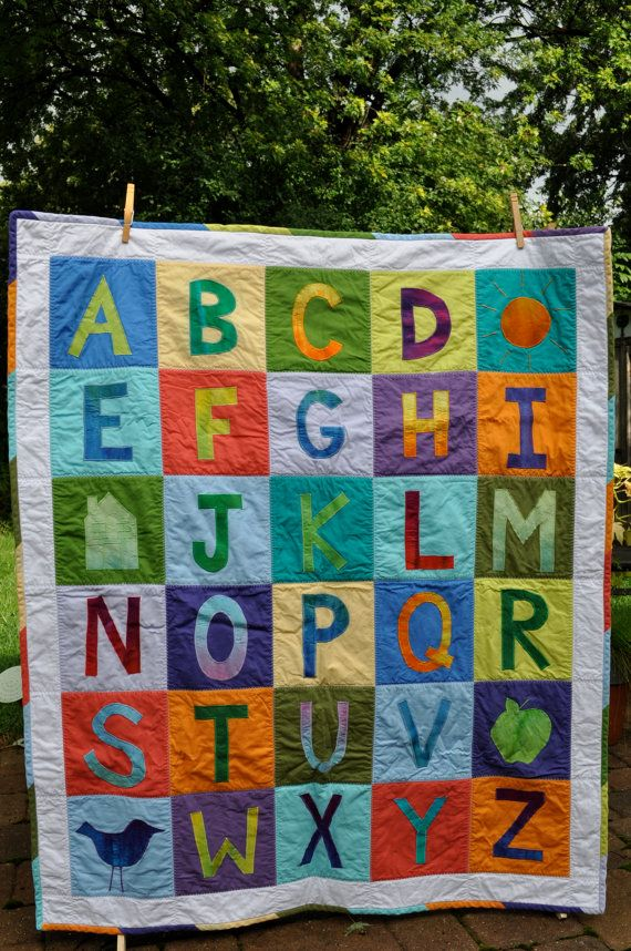 kindergarten quilt idea, different colors, but like the layout!