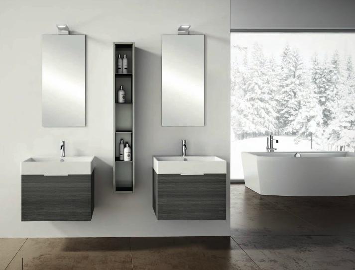#Stonewood's Quadro 60 wall-hung bathroom furniture. #homedecor #interiordesign