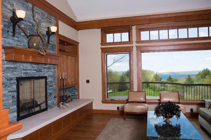 Huge, Rustic, Stone Fireplace | Rustic Fireplace Designs