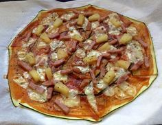 Pizza sin masa de pizza