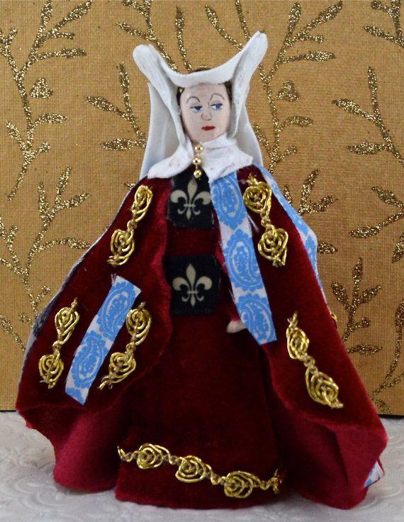 Anne Neville Doll Miniature Wife of King by UneekDollDesigns