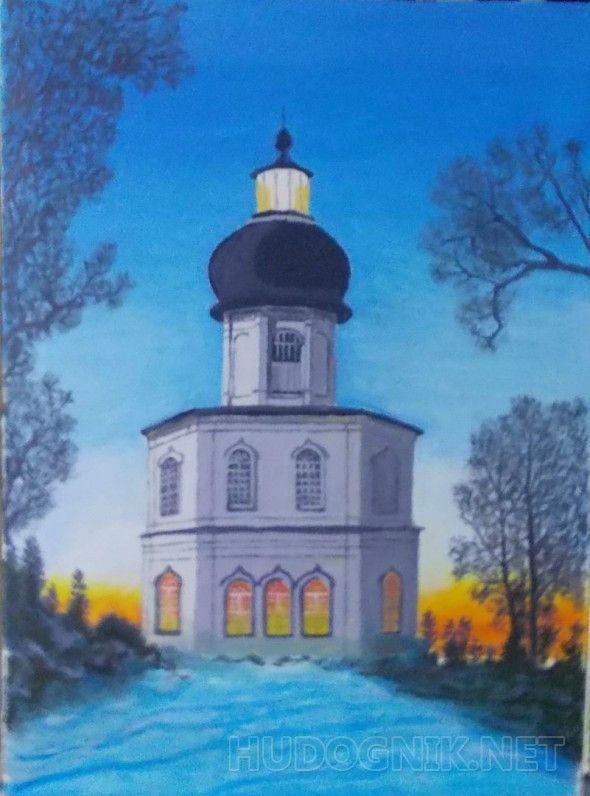 Храм-маяк на Секирной горе. Соловки