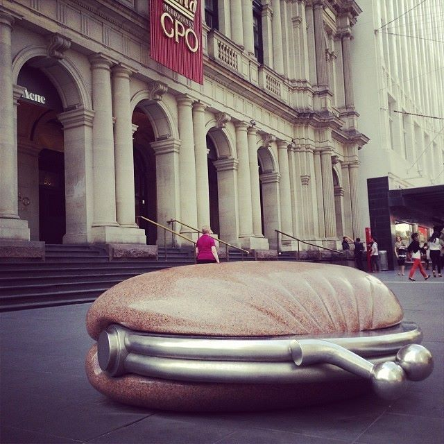 """I've always loved this - Simon Perry's """"The Public Purse"""" outside the GPO in Melbourne"""