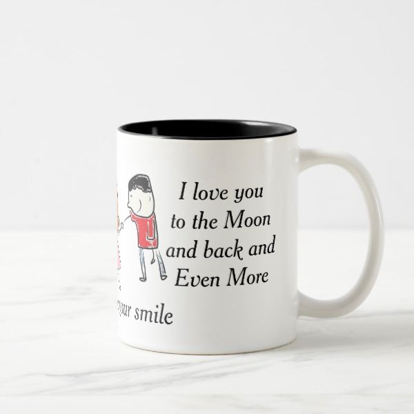 I love you mug -  You love her or him in all these ways and even more. Only so much fits on a mug but... #custom #Love Themed #gift #mug design by #KatAnnette - #mug #mugs #love #couple #wedding #anniversary #kiss #cute #whimsy #cheer