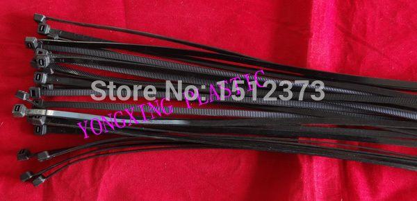 100pcs/lot self-locking nylon cable tie 4.6*380 94v-2 Rohs,TUV,SGS,UL certificated