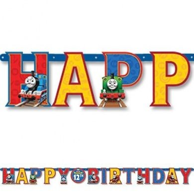 Thomas the Tank Add a Age Letter Party Banner