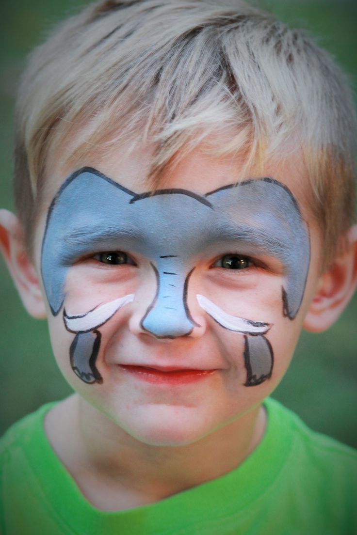 Elephant face painting