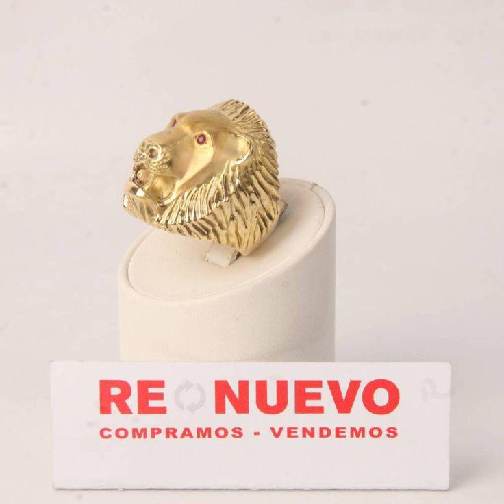 Sello león de oro 18 quilates de segunda mano E275221 | Tienda online de segunda mano en Barcelona Re-Nuevo