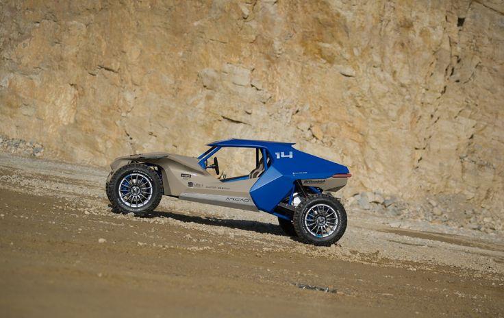 Sbarro Espera ArCad - Technical Sheet:   Engine: V8 Original Cadillac 270cv,  Automatic Gearbox,  Chassis: Multi-Tubular Steel,  Body: Composite Materials,  Weight: 1,100kg,  Wheels: Rims OZ Superturismo Dakar, Tyres BF Goodrich All Terrain KO2.    http://e-sbarro.fr/department/arcad/#prettyPhoto