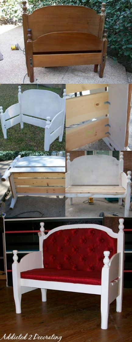 Bench Made From A Headboard And Footboard Head Boards