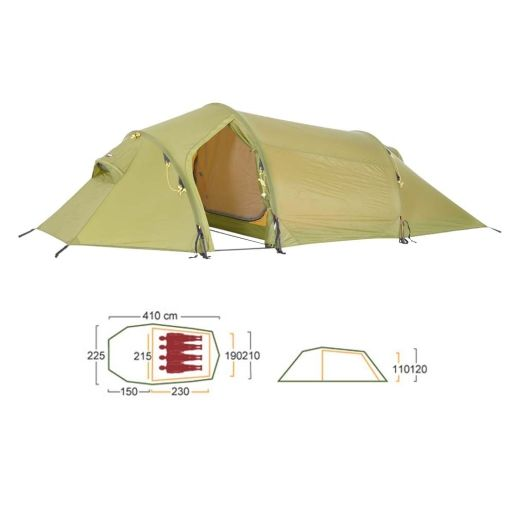 Tunelltelt Fjellheimen 4 camp 5450,- 3,5kg